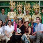 Dr. Engstrom and Dr. Rasmussen with social work students in Bangkok