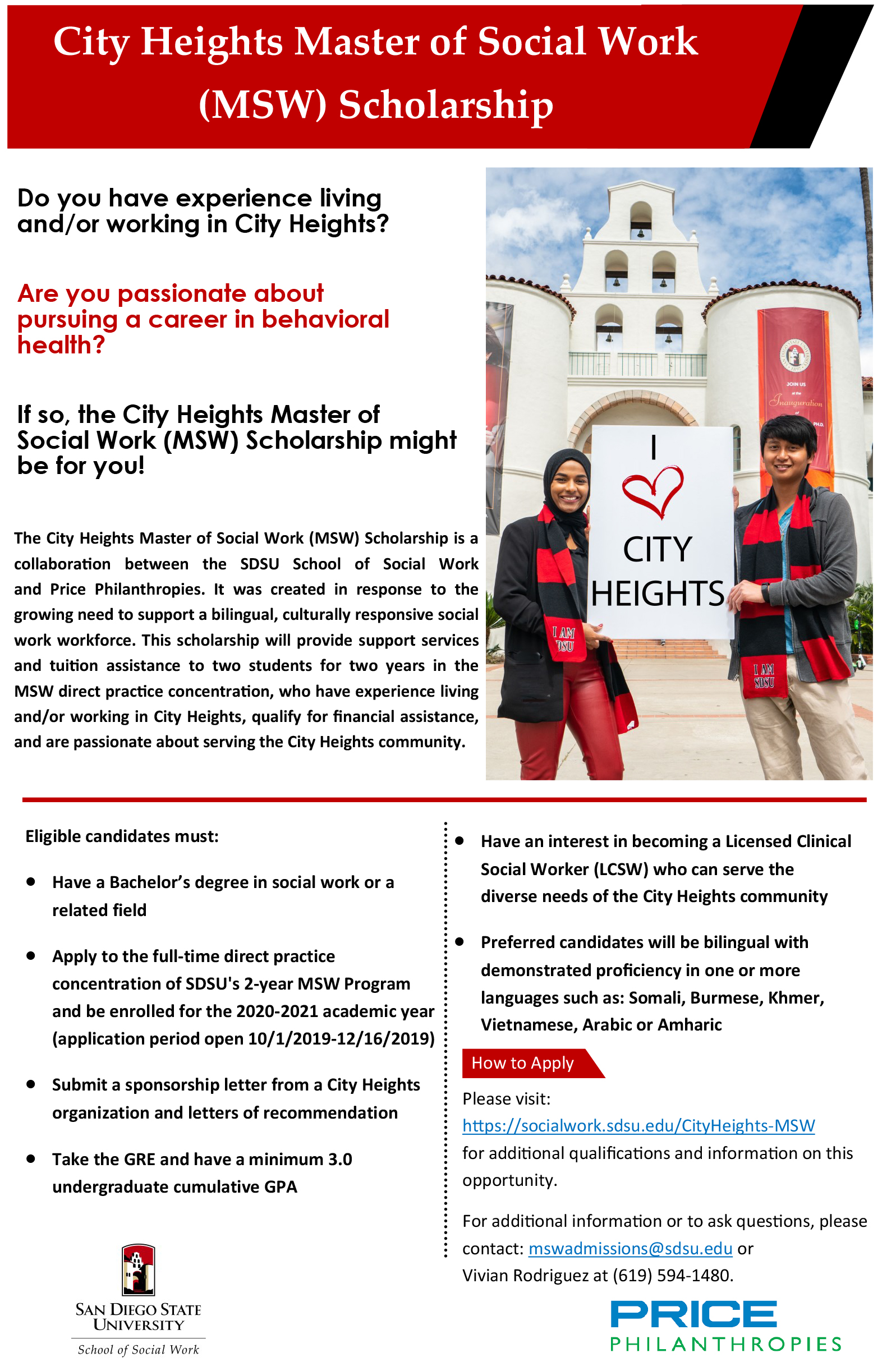 City Heights Master of Social Work Flyer