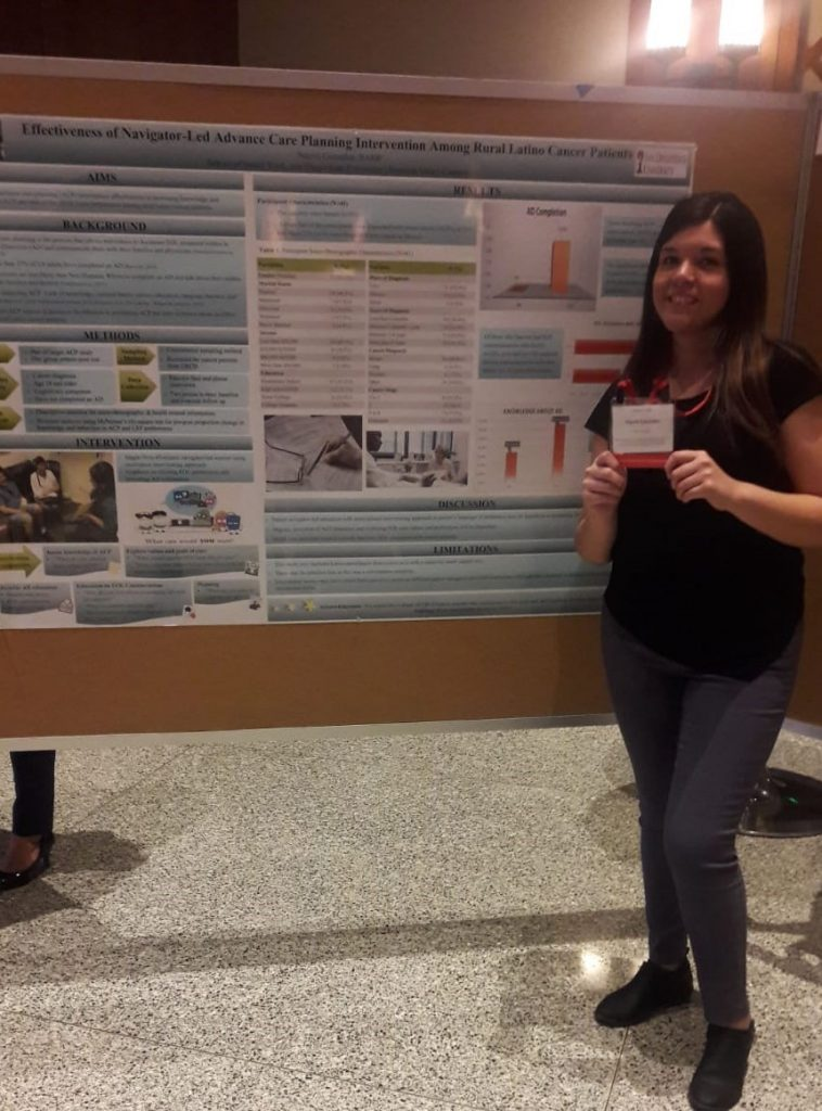 Nayeli Gonzalez and her poster
