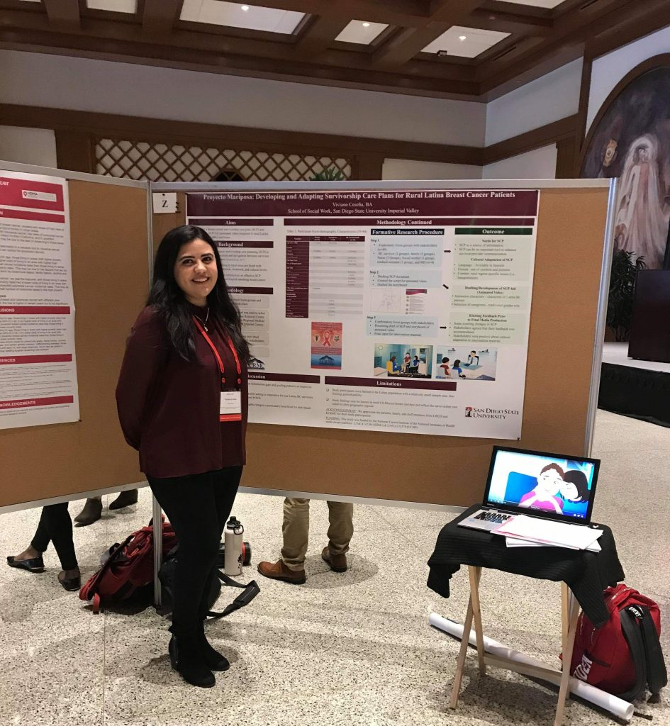 Viviann Cesena and her poster