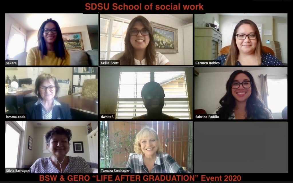 Faculty and Staff in a Zoom Meeting for Life After Graduation Event