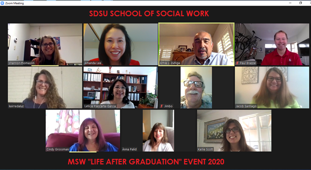 SDSU School of Social Work MSW Life after Graduation Event 2020